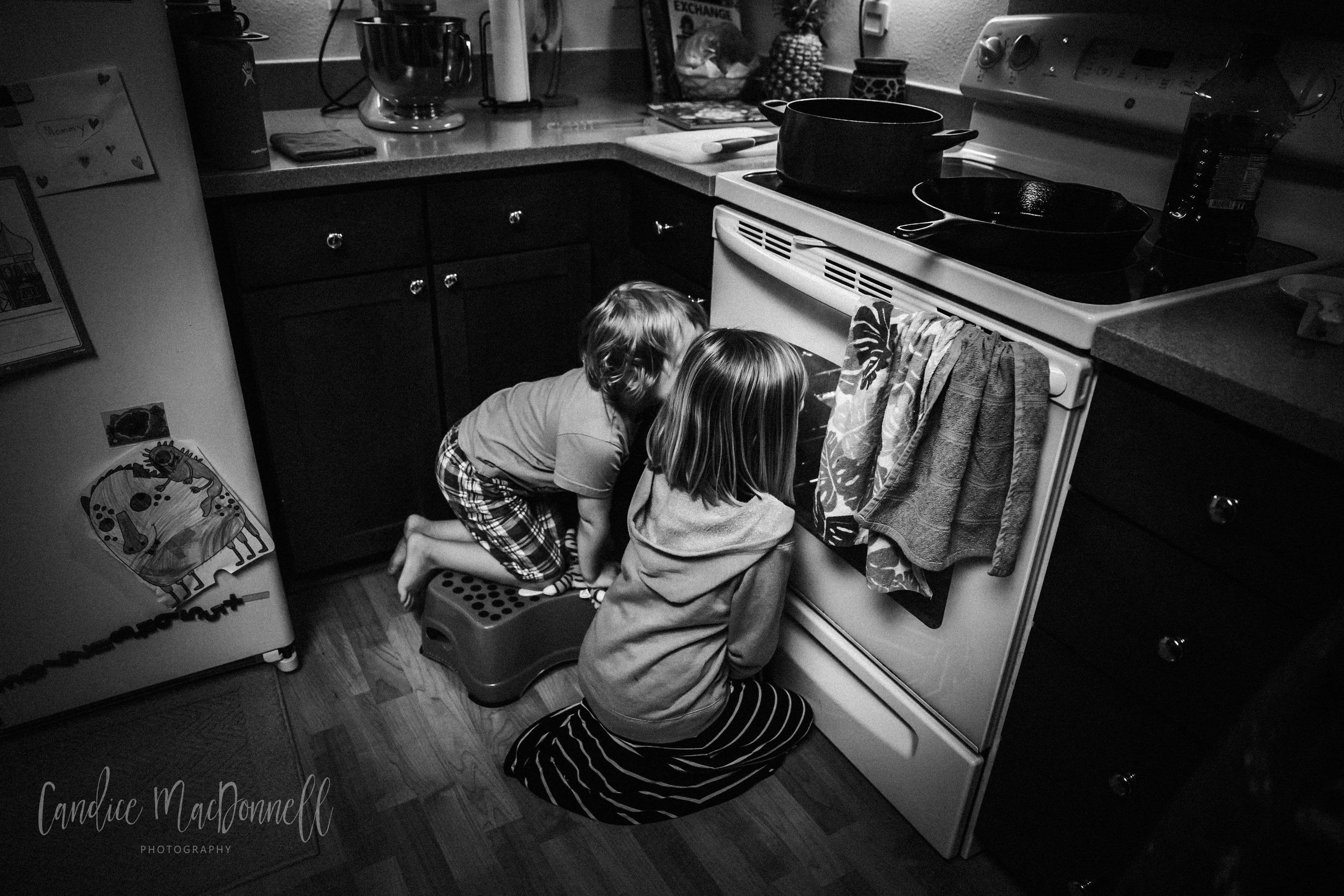 kids-baking-watching-oven-lifestyle-photograph