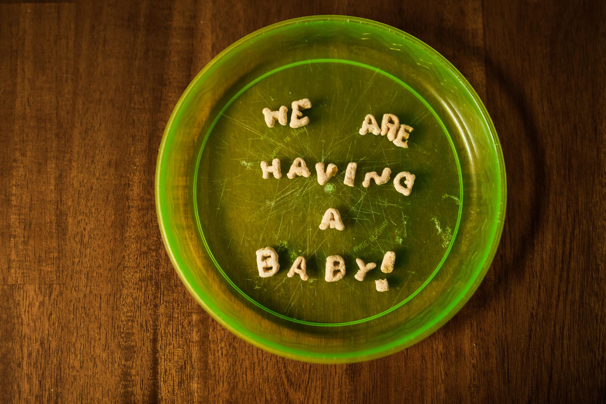 pregnancy announcement fun idea cereal having a baby