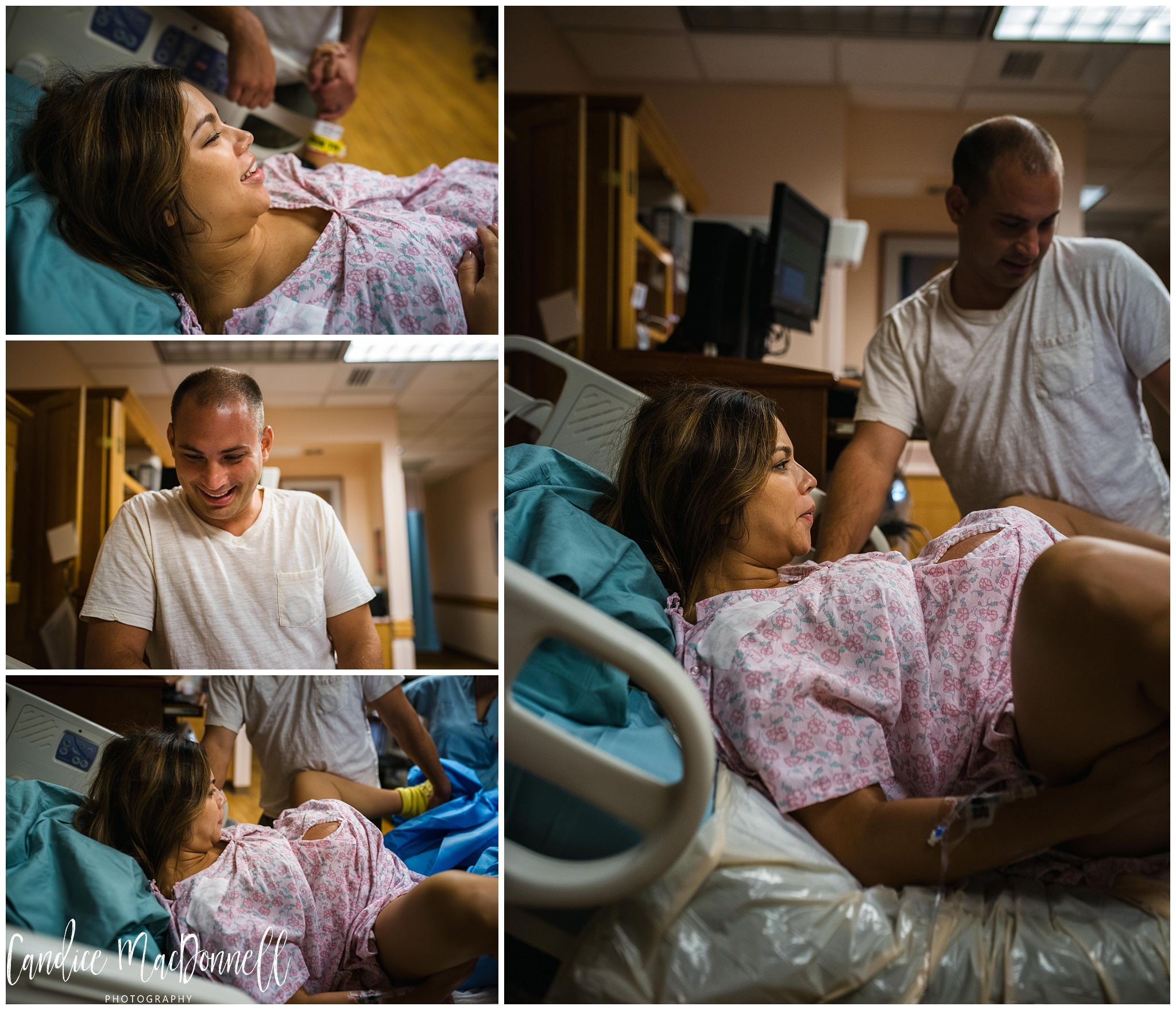 woman in labor in hawaii hospital photography