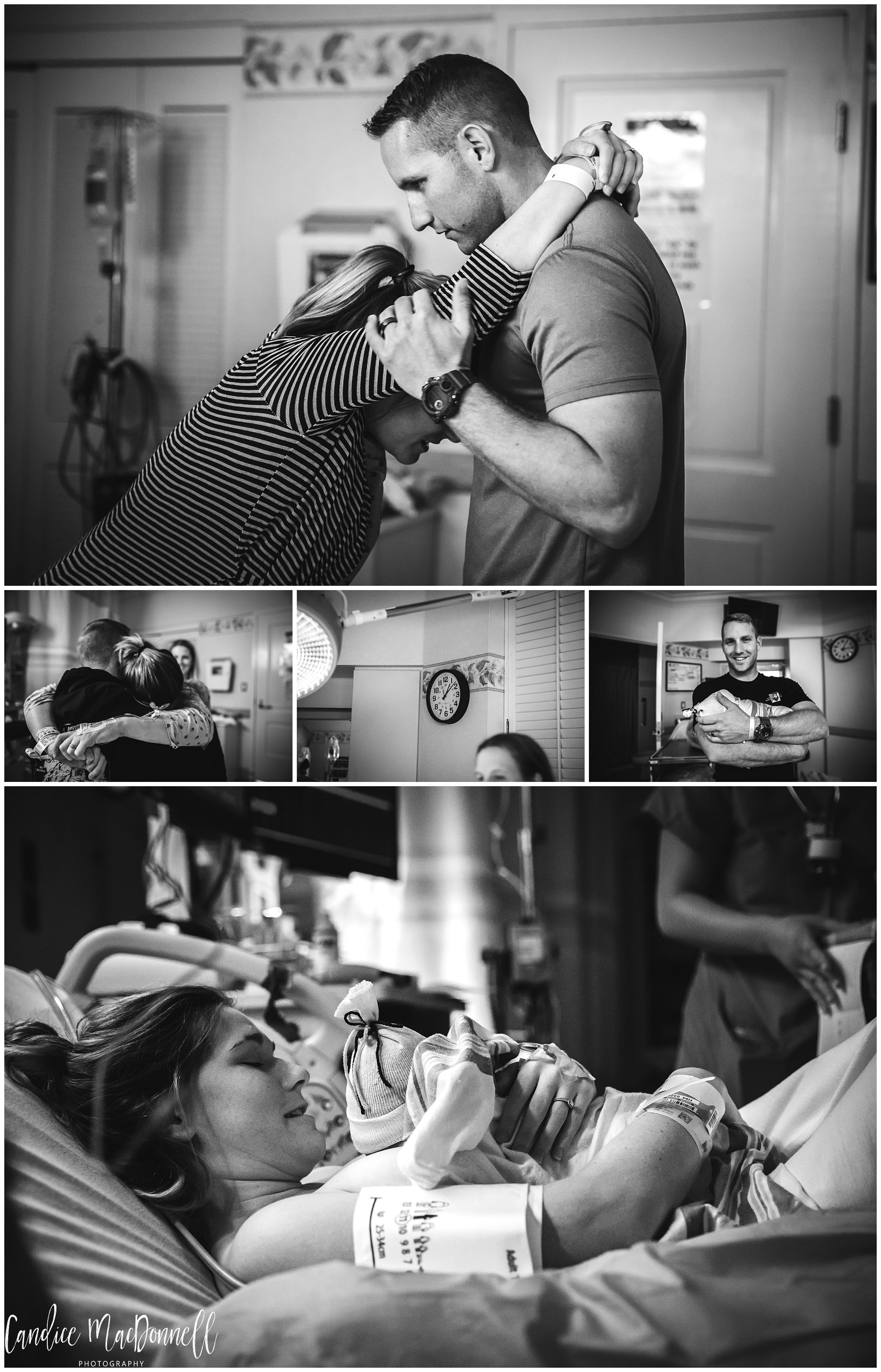 Man supporting wife through labor - www.candicemphoto.com Fort Leonard Wood Birth and Family Photography