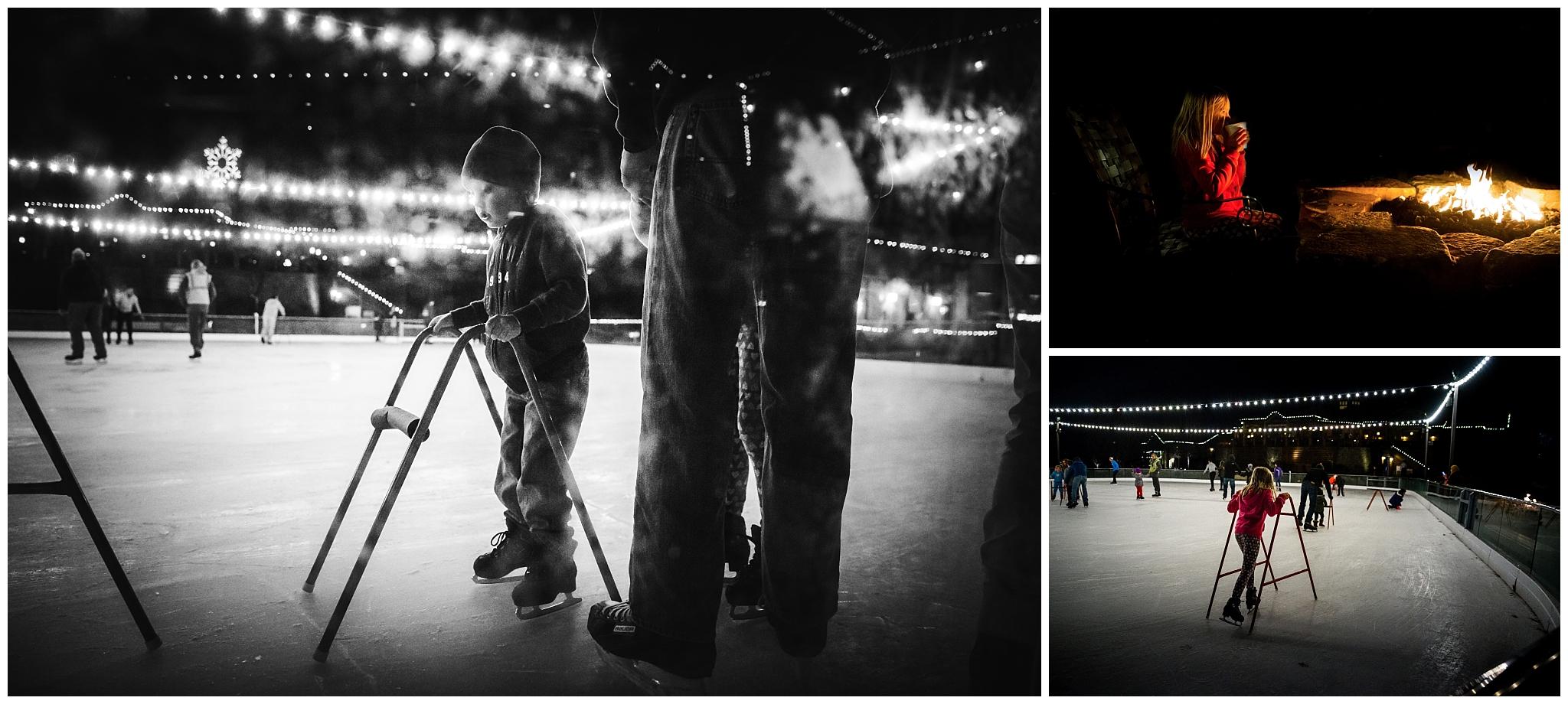 old kinderhook ice skating - family lifestyle photographer