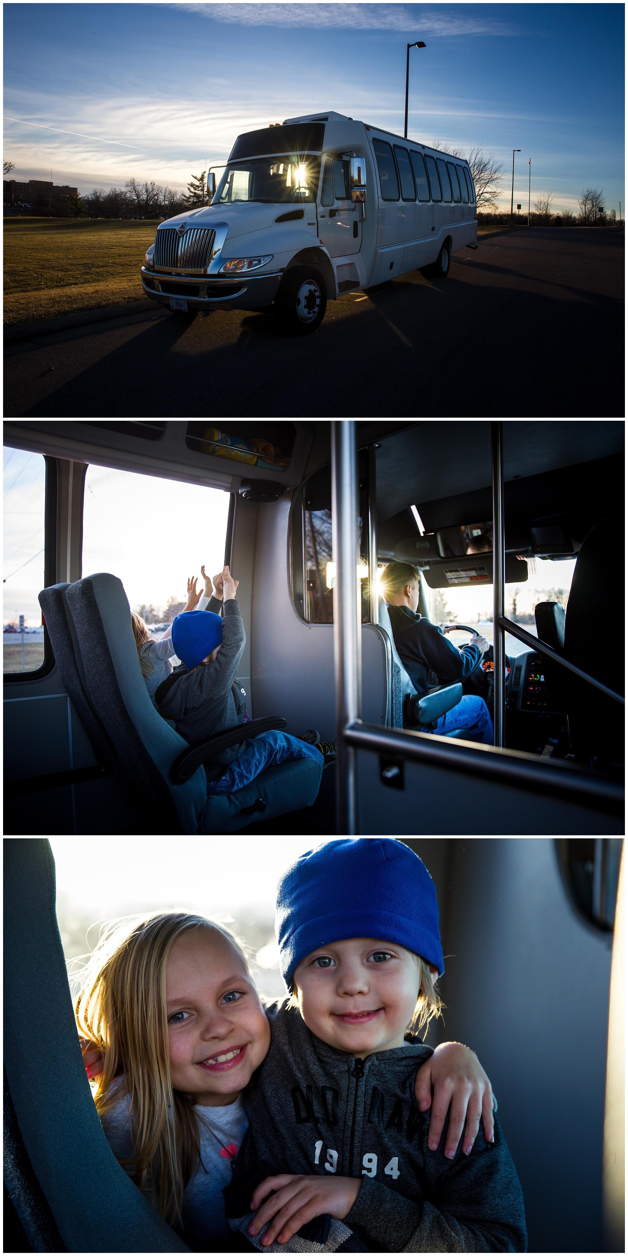 kids on a bus - fort leonard wood mo photographer