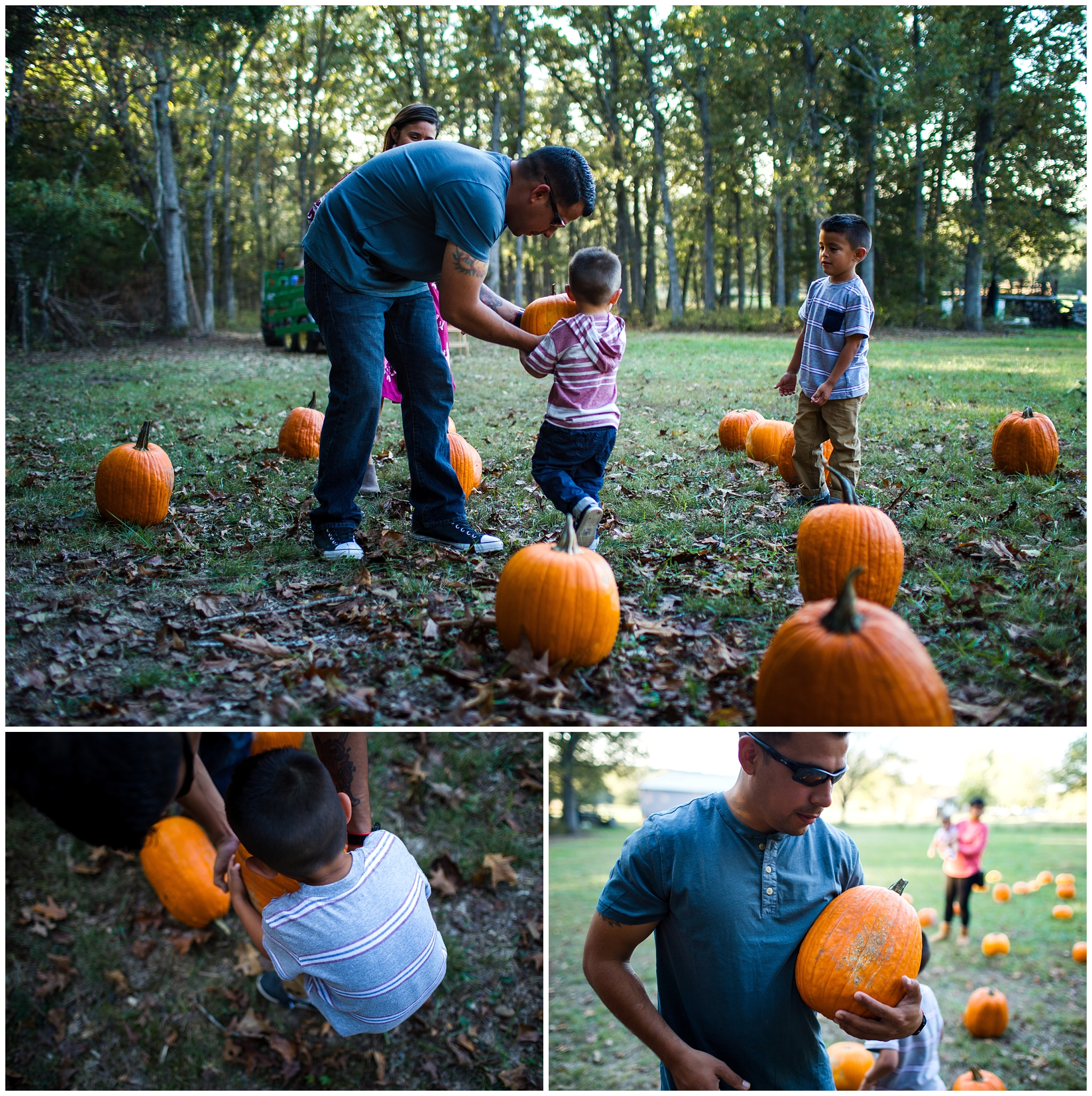 family picking out pumpkins lifestyle photography richland missouri