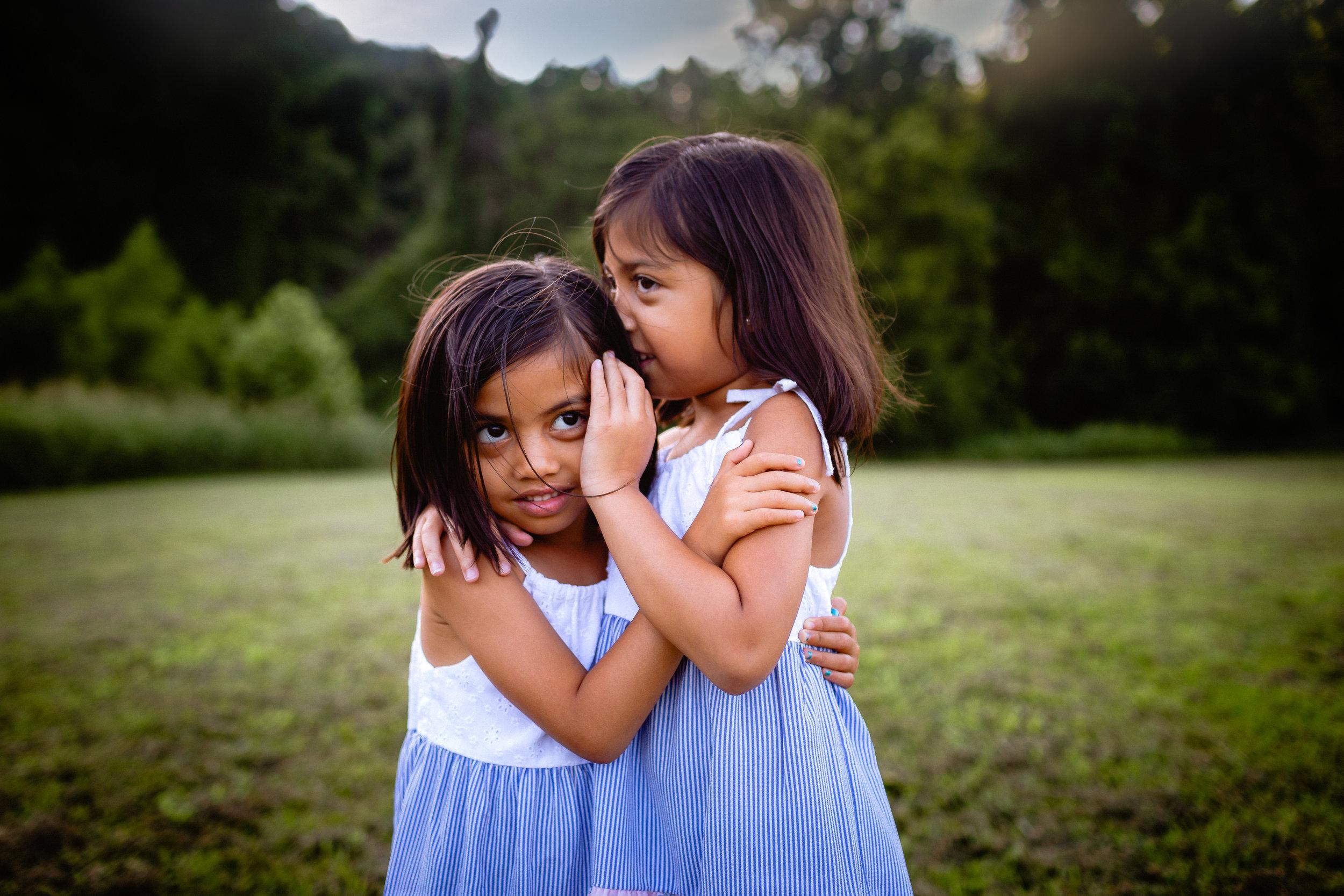 sisters whispering secrets lifestyle photograph waynesville mo