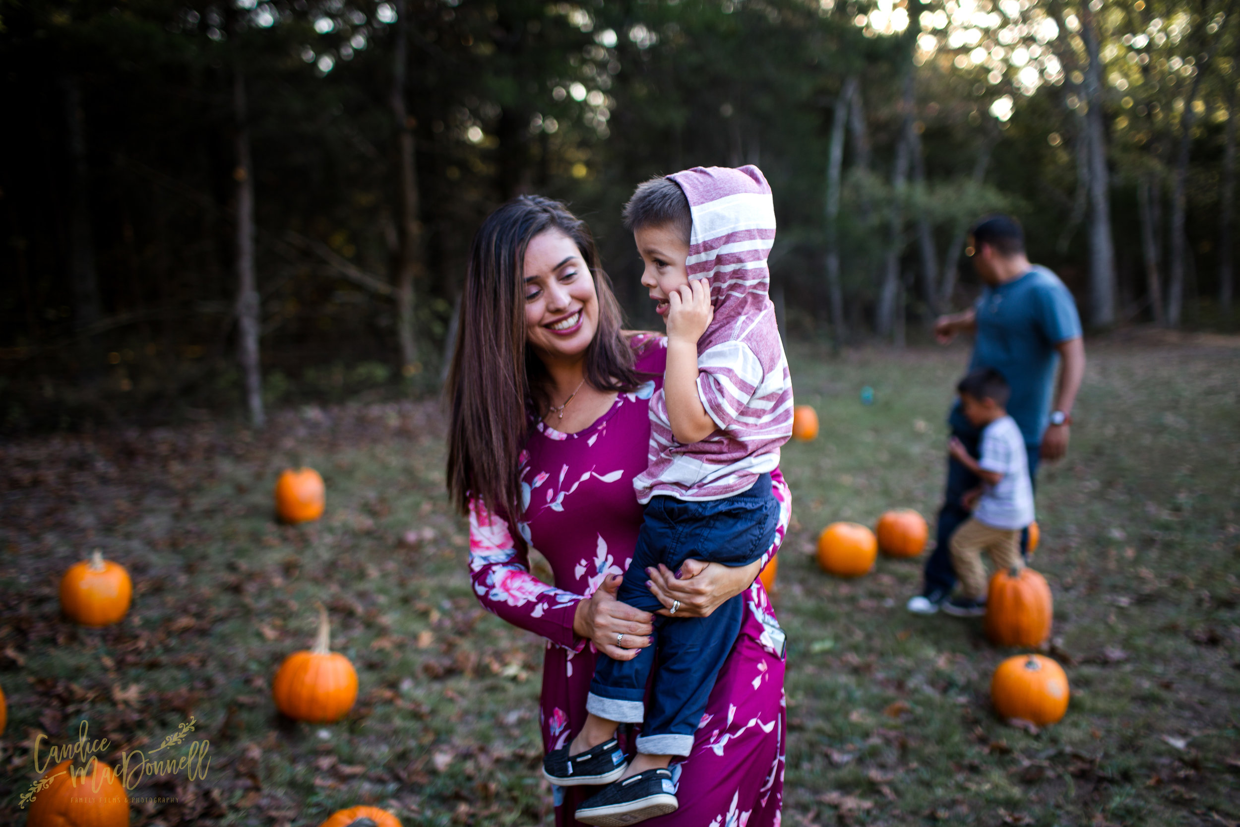 Family at pumpkin patch in fort leonard wood MO