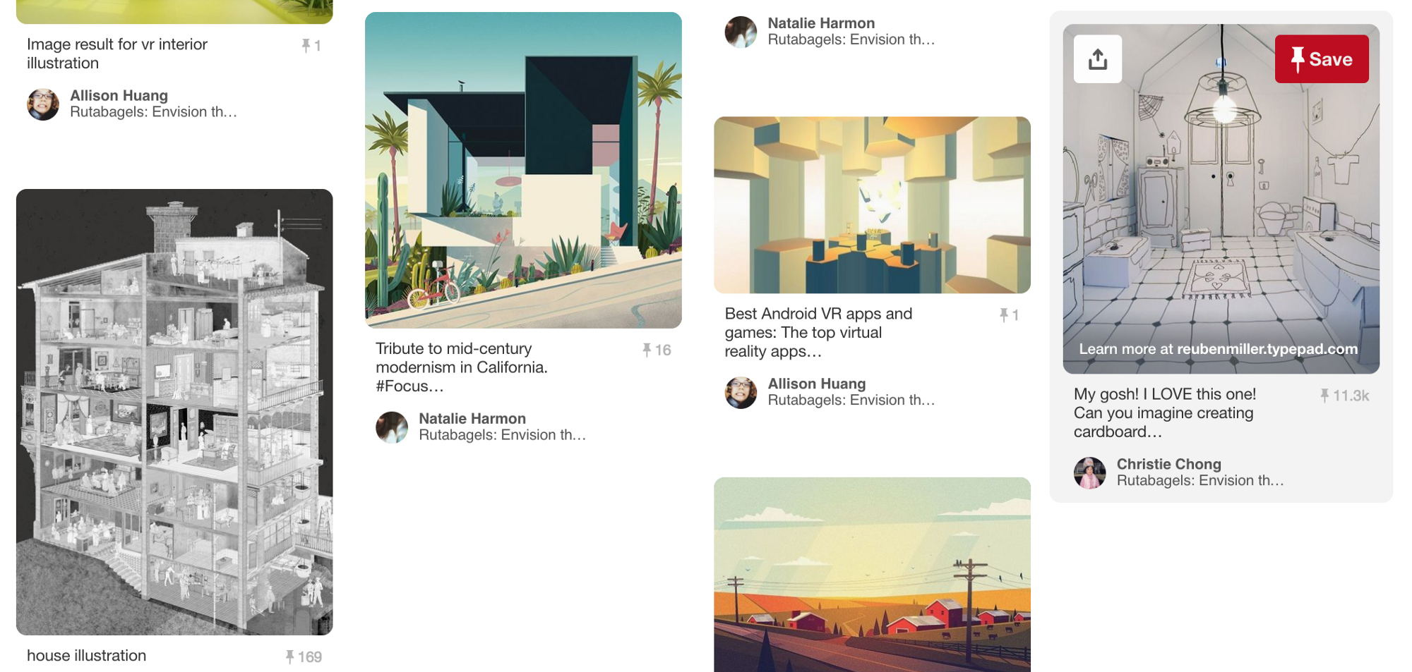 Some visual inspiration from our Pinterest board to help us start illustrating.