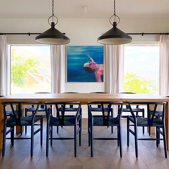 Happy Friday! Feeling the vibes of this relaxing lady. She's hanging in the Chelan project dining room.