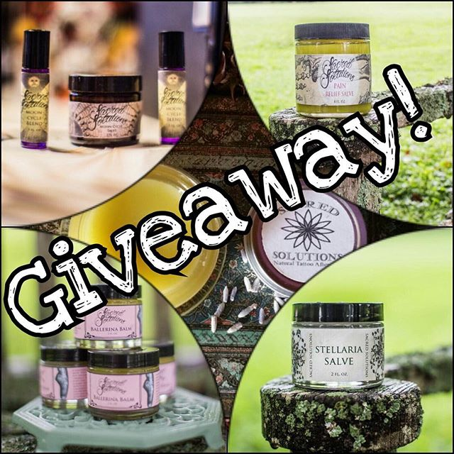 🎄It's Holiday Giveaway time! 🎄 To enter, repost and hashtag #sacredsolutionsgiveaway for your chance to win our, first ever, Sacred Solutions Skincare Collection!  The new collection consists of Tattoo Aftercare, Ballerina Balm, Mooncycle Salve, White Rose Salve, Calendula & Chamomile Salve and our best seller, Stellaria Salve. Over a $75 value for free!! Winner will be chosen at random on December 15th. Enter as many times as you like! 🎄🎄🎄🎄🎄🎄🎄🎄🎄🎄🎄🎄🎄🎄 #sacredsolutions #sacredsolutionsgiveaway #etsystore #etsyfinds #etsyshop #thankyou #giveaway #holidayfun #tattoo #tattoos #organicskincare #organic #handmade #baltimore #skincare #skincareroutine #sacredgeometry #ballerinabalm #tattooaftercare #stellariasalve #lipbalms #whiterosesalve #natural #etsy #essentialoils #plantmedicine #madewithlove