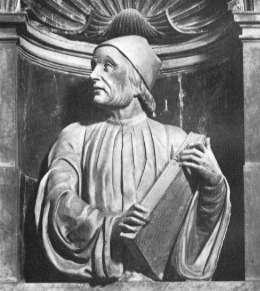 Bust of Ficino by  Andrea Ferrucci  in  Il Duomo di Firenze