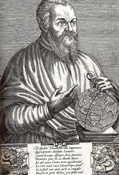 Portrait of André Thevet by Thomas de Leu (1586)