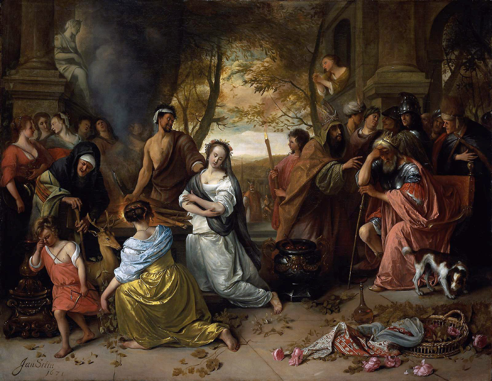 Sacrifice of Iphigenia  |     Jan Steen | 1671 | oil on canvas