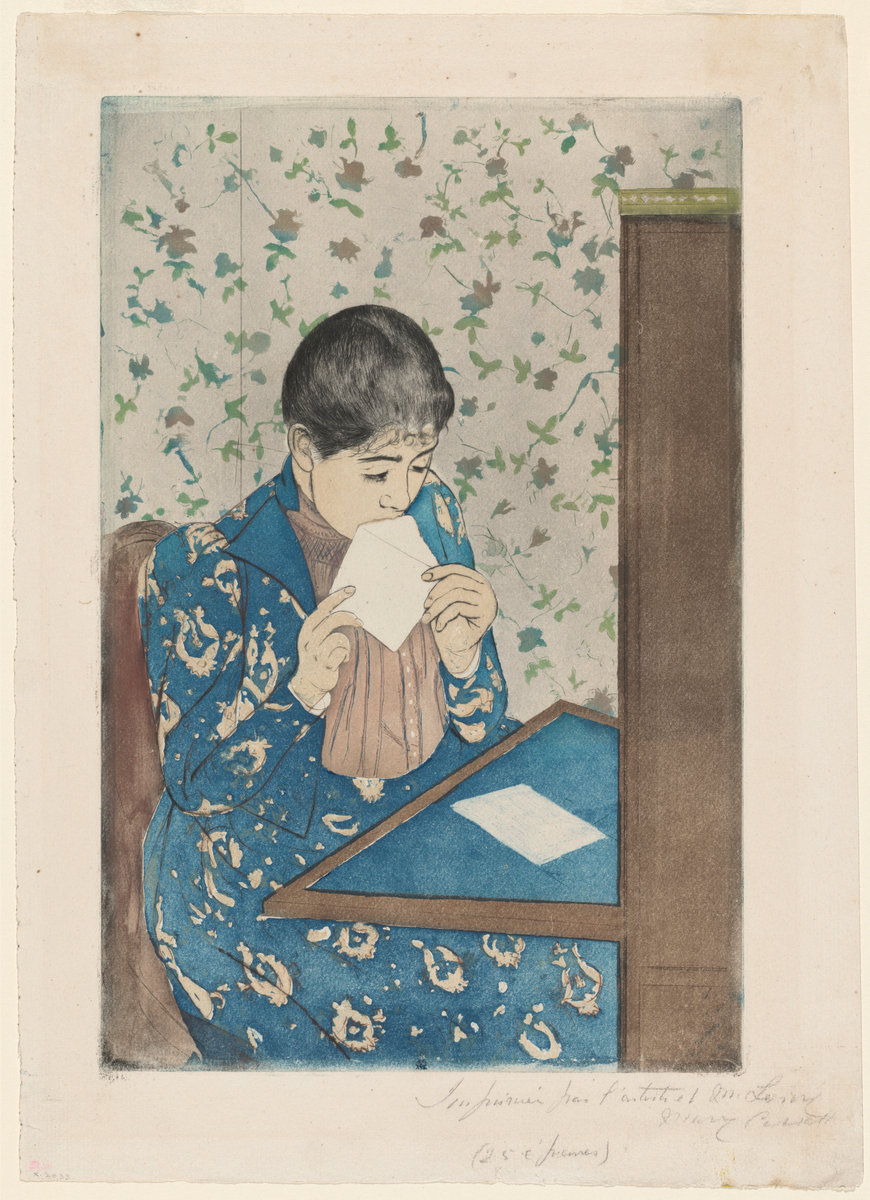 The Letter | Mary Cassatt | c. 1890 | color drypoint and aquatint on laid paper