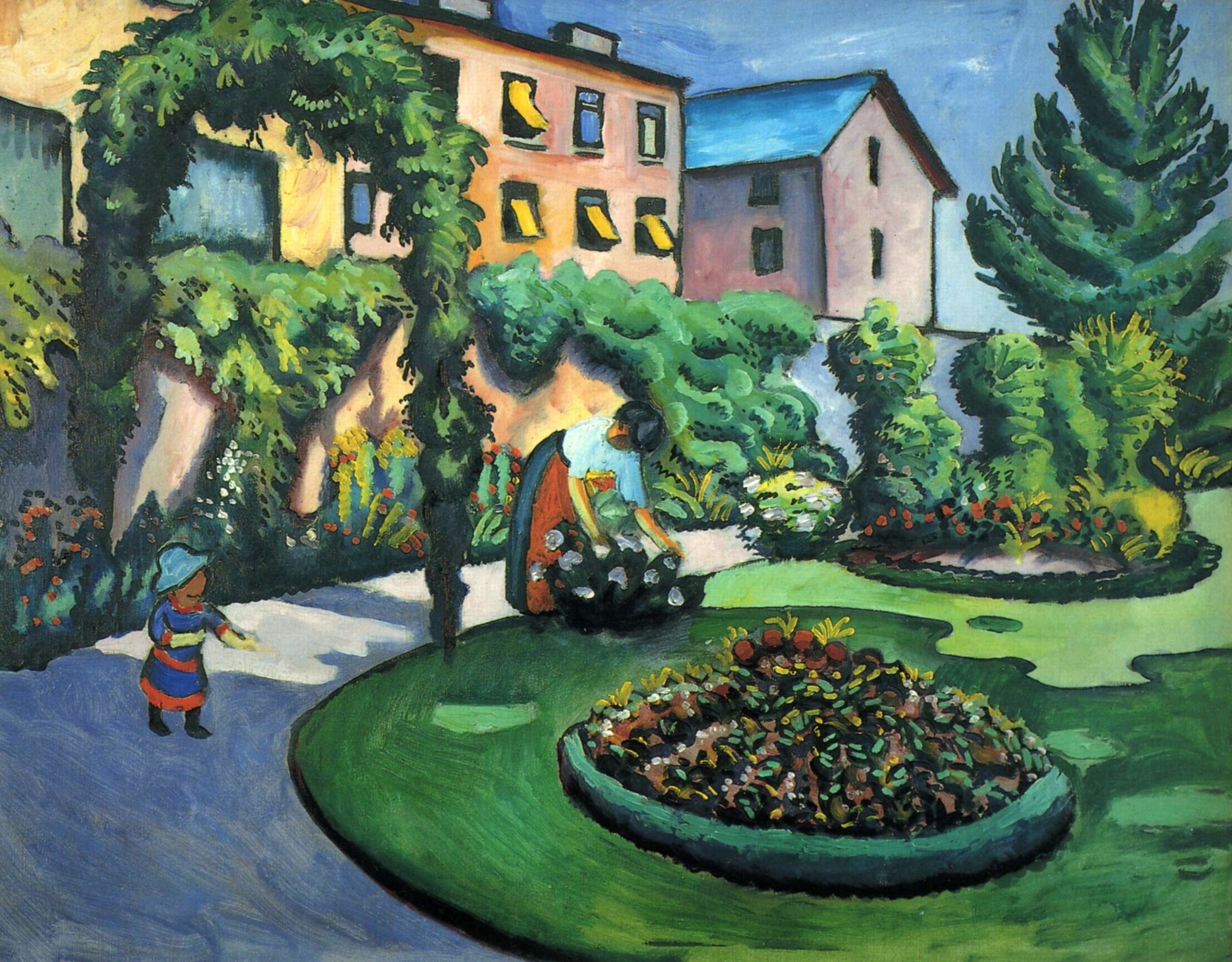 Gartenbild  | August Macke | 1911 | oil on canvas