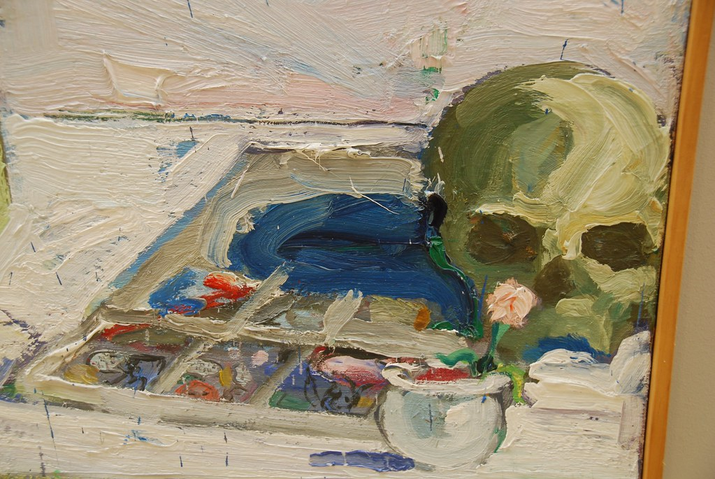 Mirror, Skull and Chair  | Paul Wonner | 1960 | oil on canvas