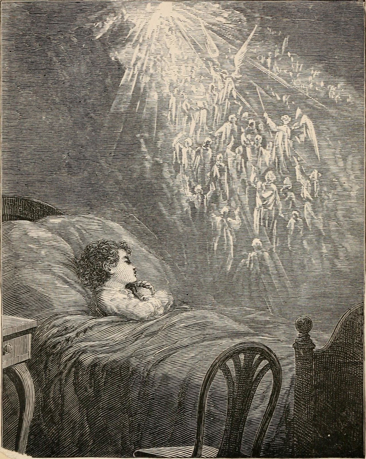 From  A child's dream of a star  | Charles Dickens | 1871 |  etching