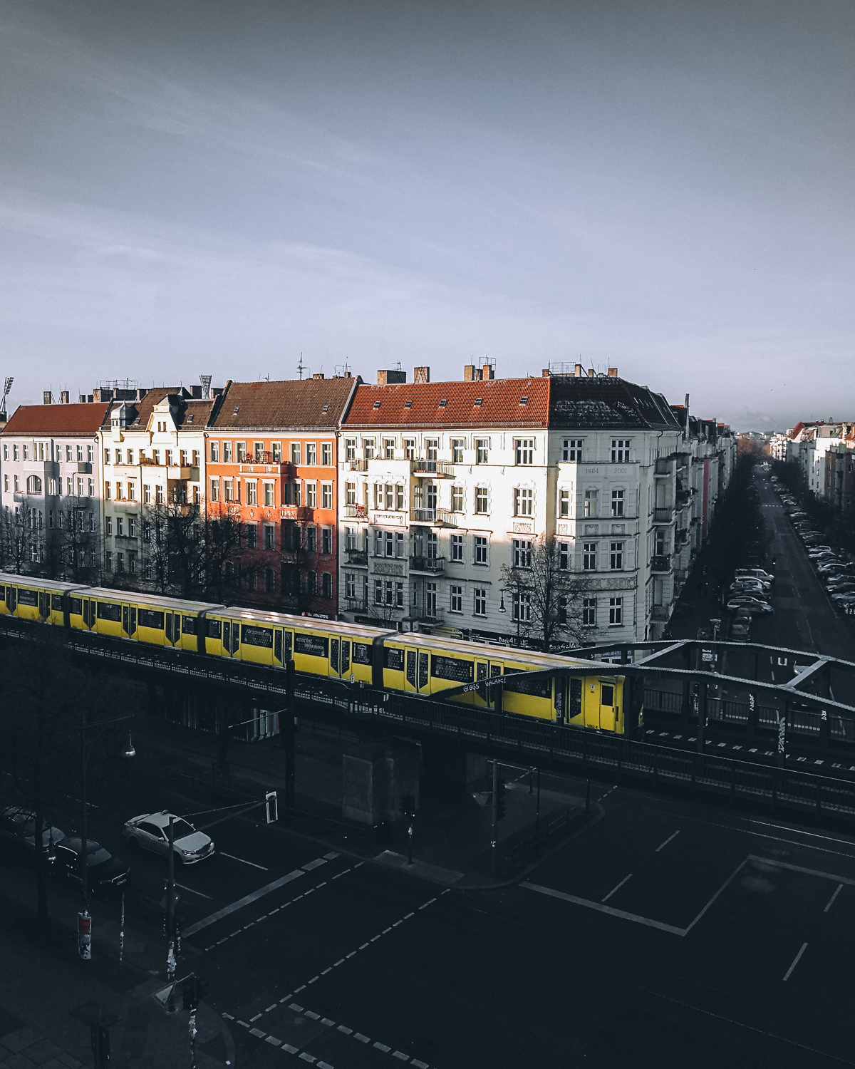 Waiting for Berlin's famous yellow subways to roll through the frame for an extra bit of dynamic composition.