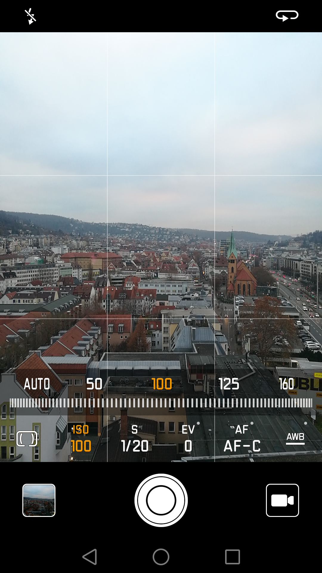 Manual settings to adjust for Highlights / Shadows.