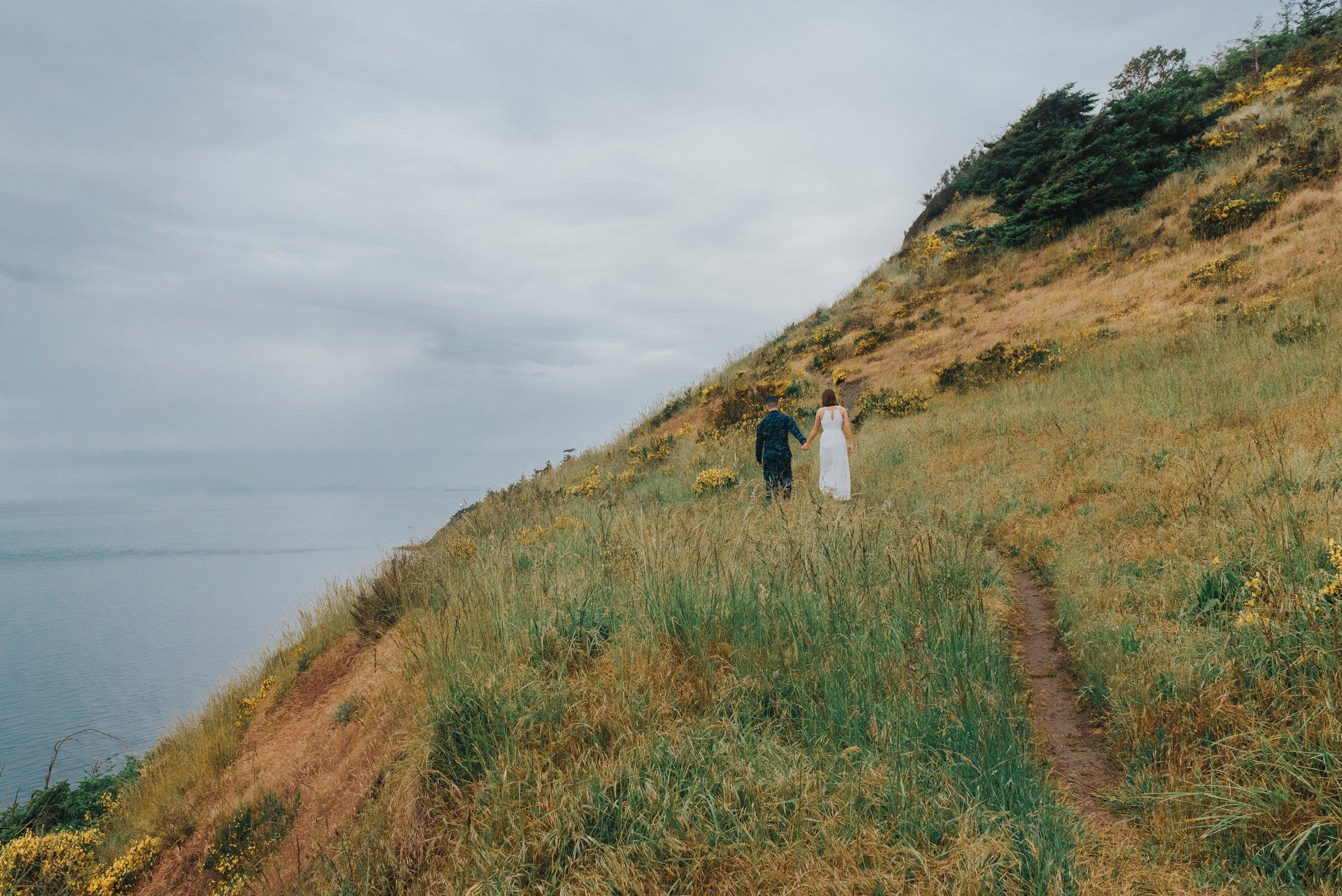 Fort Ebey Cliffside Engagement