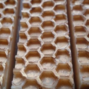 Beeswax patterned soap bars