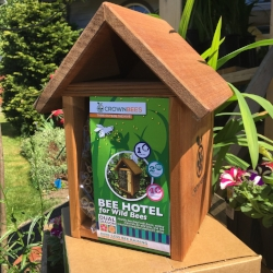 One of several ready-to-use bee kits available that are actually made for bees, not for profits.