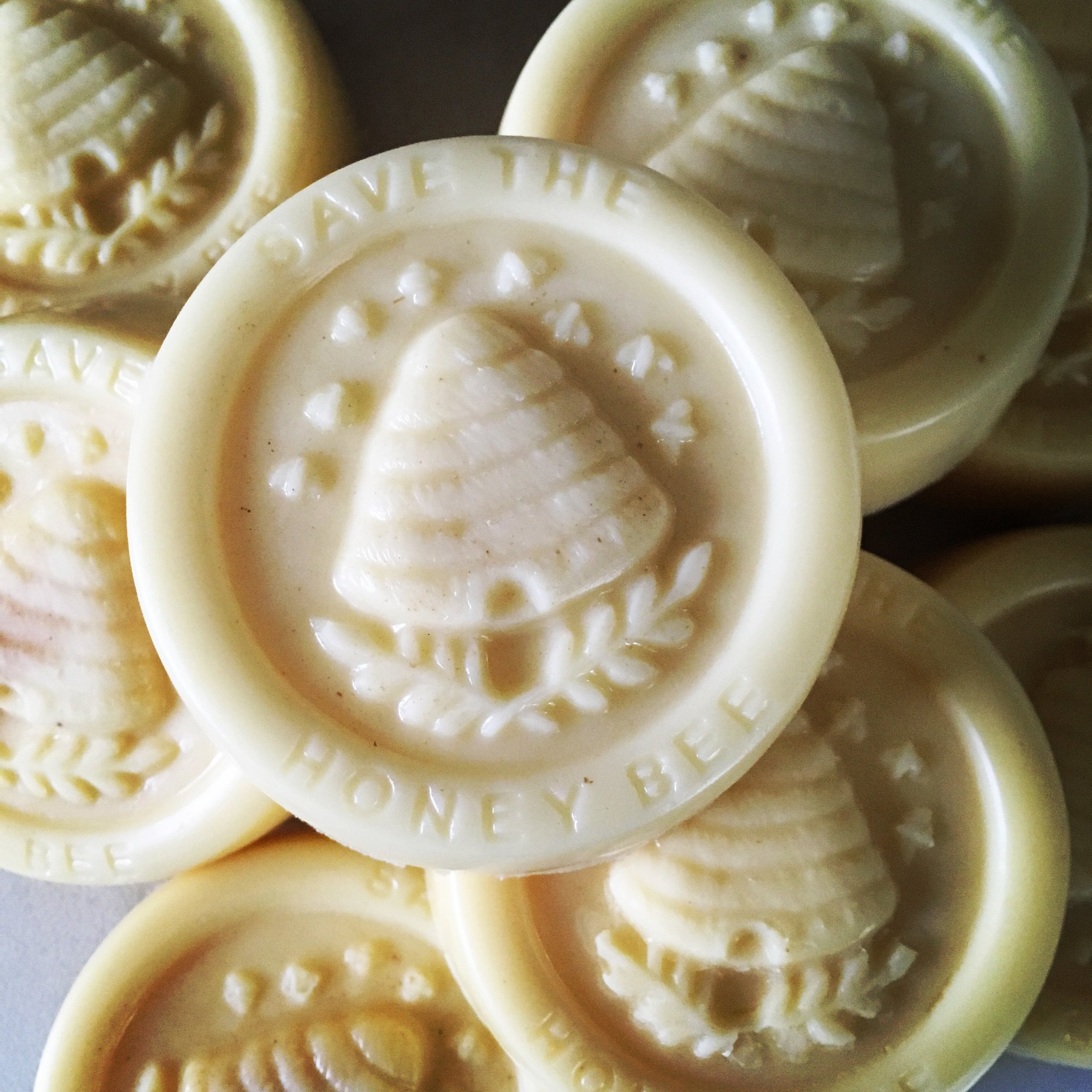 Our beeswax lotion bars are made using only beeswax from our own hives, organic shea butter, and organic sunflower oil.