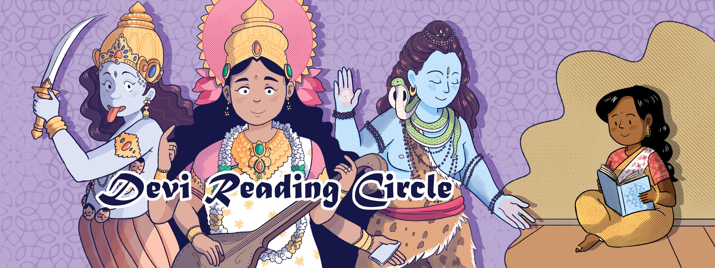 Illustration for the Devi Reading Circle Facebook Group  Digital 2017
