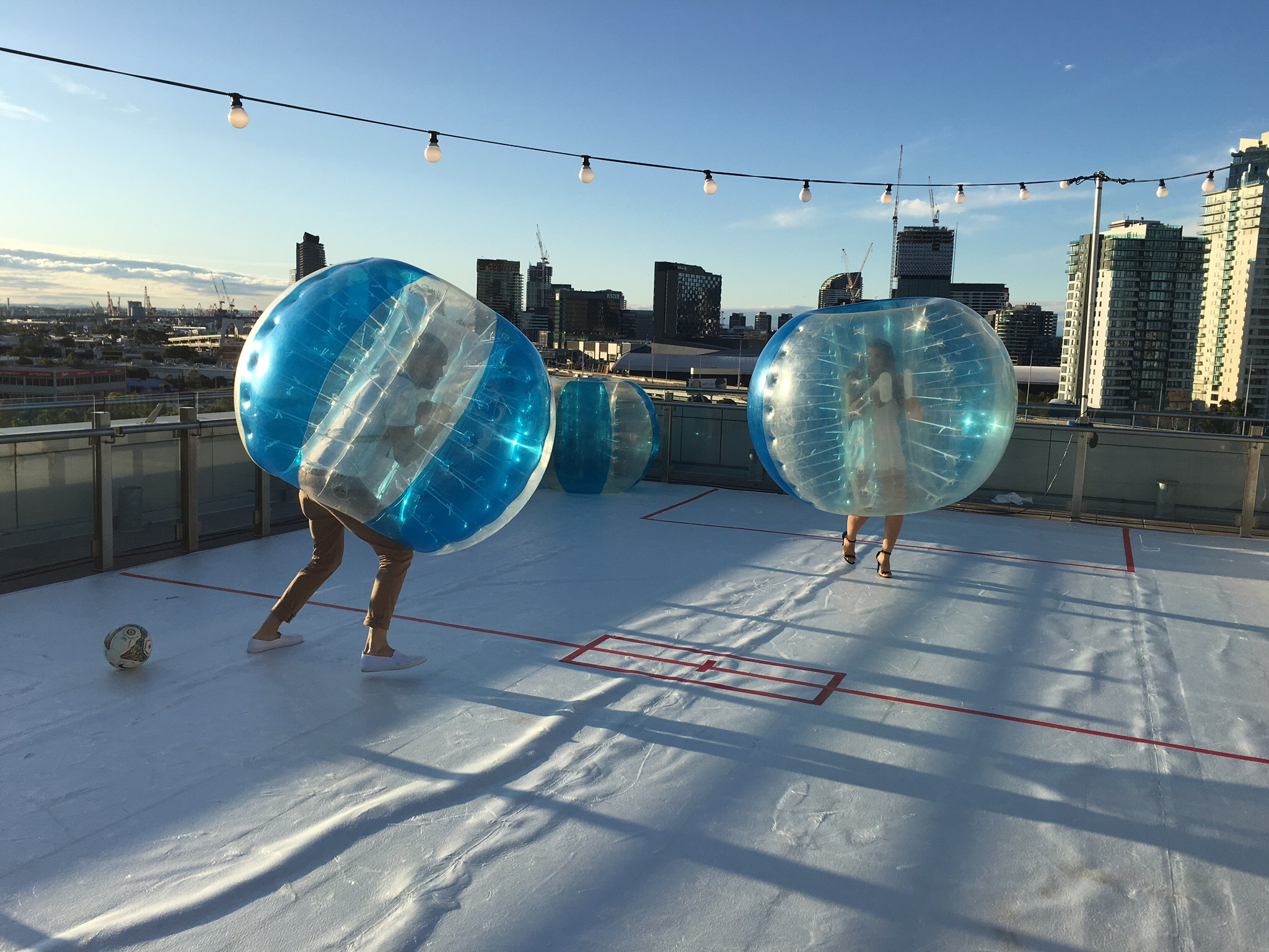 Bubble Soccer Roof Top Edition
