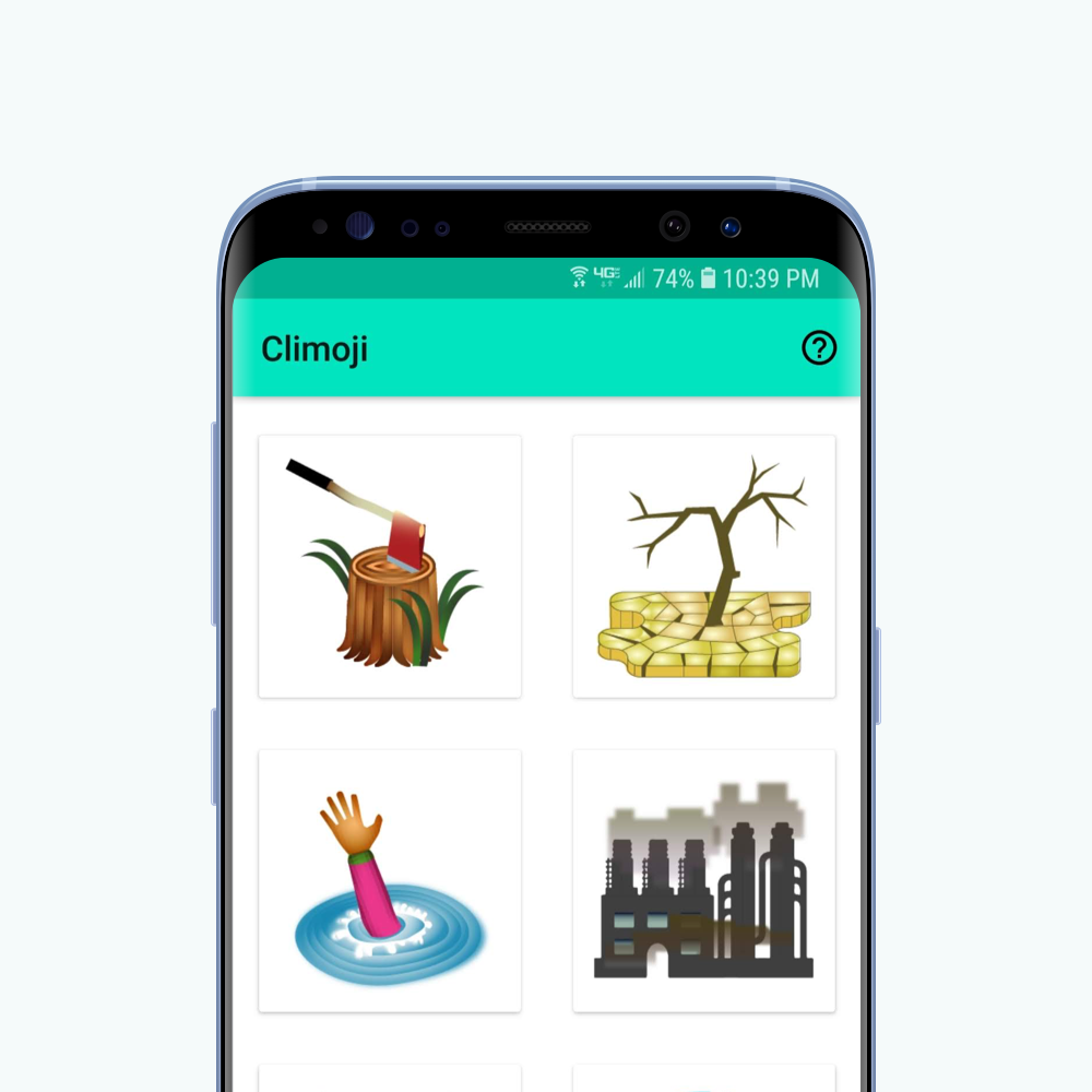 Climoji - an android app to distribute emojis inspired by climate change