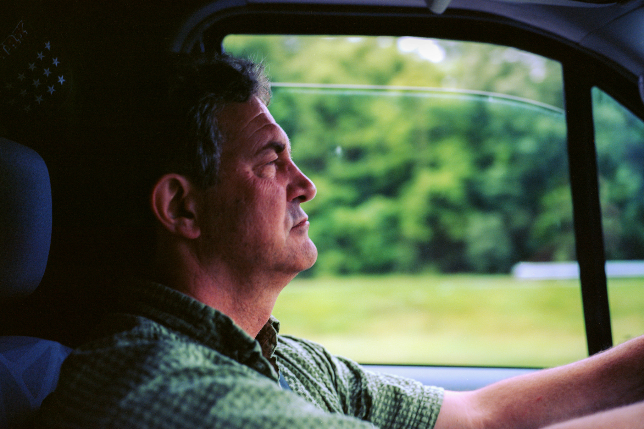 Portrait of Dad driving...