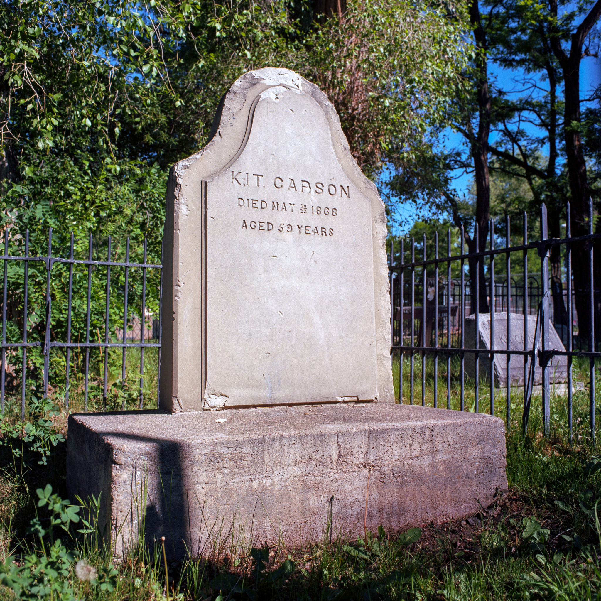 Frontier legend Kit Carson's grave. (December 24, 1809 – May 23, 1868)