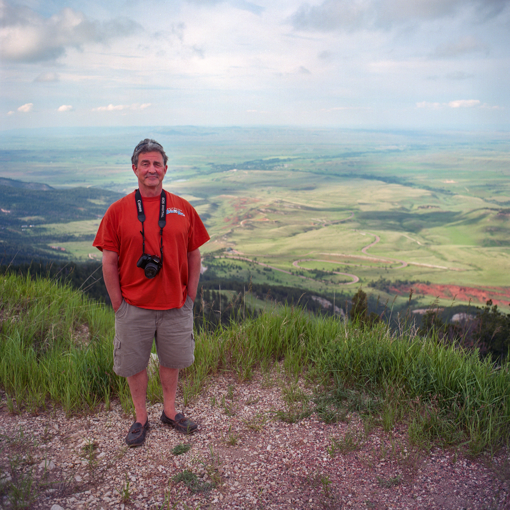 Dad at the vista overlooking eastern Wyoming.