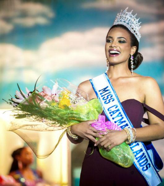 Miss Ilhas Cayman 2017, eleita no último final de semana.