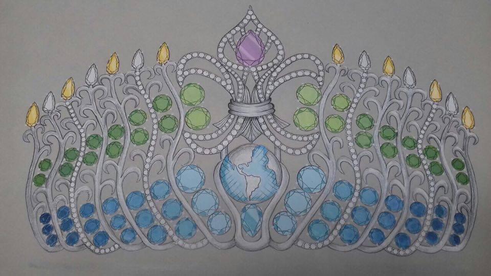 A nova coroa do Miss Brasil Mundo, uma criação de Tiago Seixas.