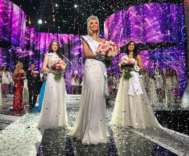 Miss Rússia 2017 e sua côrte.