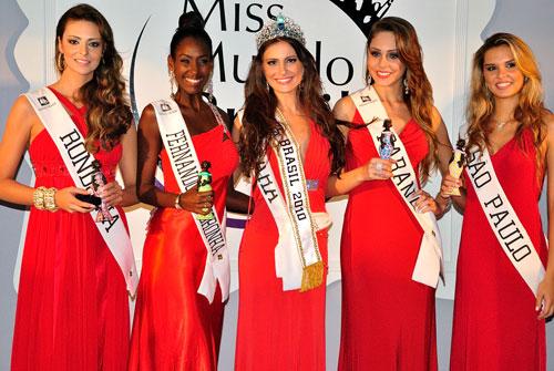 O Top 5 que abriu a década: RO (3), FN (2), PA (Miss Mundo Brasil), PR (5) e SP (4).