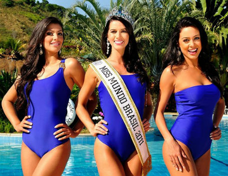 Mariane Silvestre (SE), segunda colocada, Juceila Bueno (RS), Miss Mundo Brasil 2011,