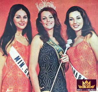 A mineira Ângela não teve a mesma sorte de Martha (eleita Miss Universo) e Maria da Glória (eleita Miss Interanacional): não conseguiu classificação em Londres.