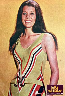 Ângela Maria Favi, de São Paulo, Miss Brasil Mundo 1972.