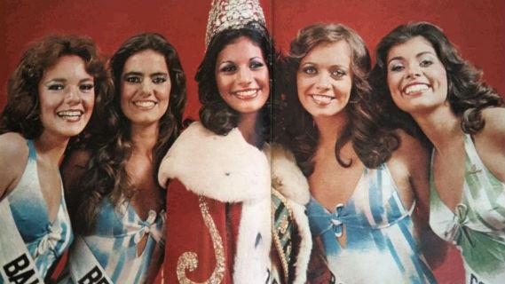 O Top 5 do Miss Brasil 1977: BA (5), Brasília (3), São Paulo (Universo),  RS (Mundo)  e Goiás (4).