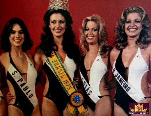 Top de 1979: Léa Silvia de São Paulo, Miss Brasil Mundo, RN (Universo), GO (Internacional), RJ (4).