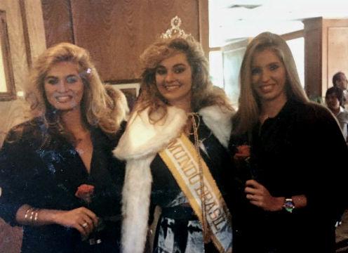 O Top 3 de 1987: Adriana de SP (2), Simone (Miss Mundo Brasil 1987) e Adriana do CE (3).