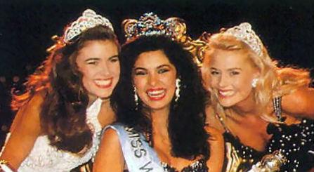 Miss Mundo 1991: Austrália (2), Venezuela (Miss Mundo), África do Sul (3).