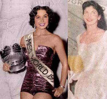 Costanda do Egito (esq) venceu o Miss Mundo; será que Lacerda (dir) teria ganho da egípcia?