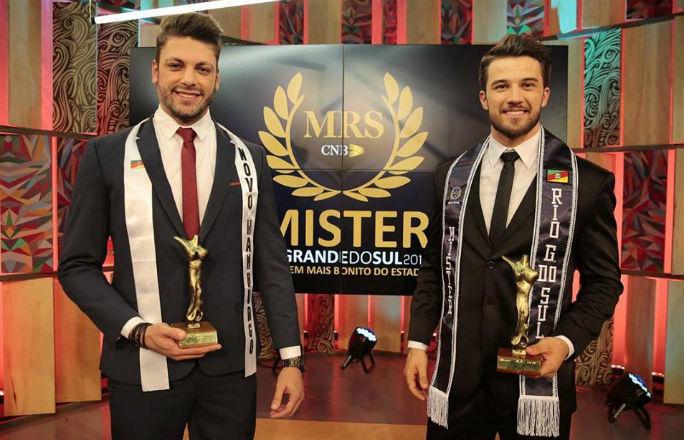 Felipe Haeffner de Passo Fundo (dir) é o Mister Rio Grande do Sul CNB 2018. Rodrigo Reis, de Novo Hamburgo, foi vice (foto/divulgação).
