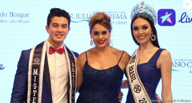Matheus Song, Mister Brasil CNB 2017, Suzy Rêgo, atriz global que foi vice-Miss Brasil Mundo em 1984, e Gabrielle Vilela, Miss Brasil Mundo 2017.