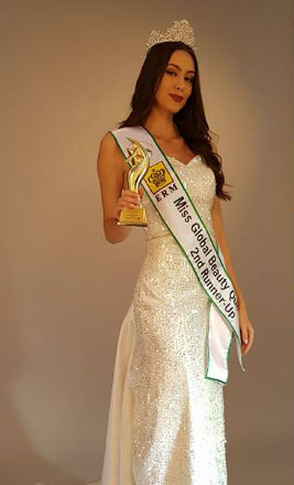 A mineira Lorena brilhou na Coréia do Sul: terceiro lugar no Miss Global Beauty Queen.