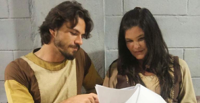 """Montandon e Cristiana Oliveira foram Baltazar e Mara em """"A Terra Prometida"""", da Record."""