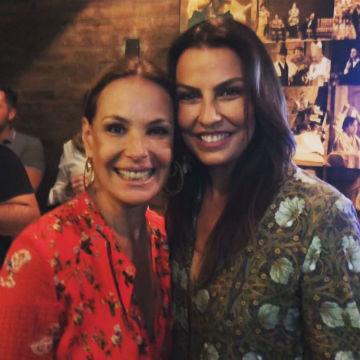 A atriz Carolina Ferraz e a Miss Brasil Mundo 1996 Anuska Prado: duas gatas!
