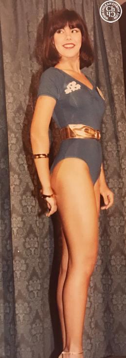 Catia no Miss Mundo 1983 em foto inédita do jornalista chileno  Ricardo Guiraldes.