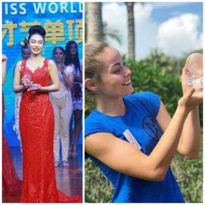 Japão (esquerda) venceu o Talento, EUA (direita) venceu a prova esportiva. Ambas estão classificadas para o Top 30 do Miss Mundo 2018.